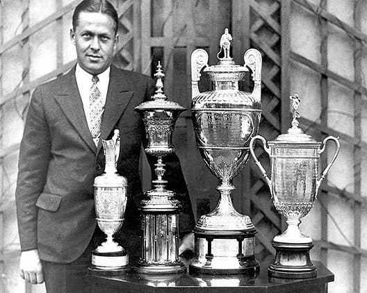 """Bobby Jones becomes the only golfer to win the """"Grand Slam""""."""